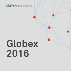 globex 2016 cover image with globe and AMR International lgo