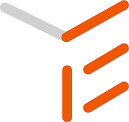 The 'E' for events highlighted in orange as part of TIE logo