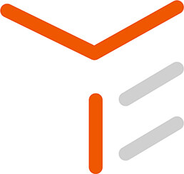 The T in the TIE logo highlight orange representing technology