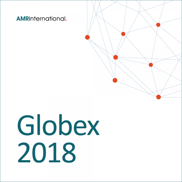 Globex 2018 cover with globe and AMR International logo