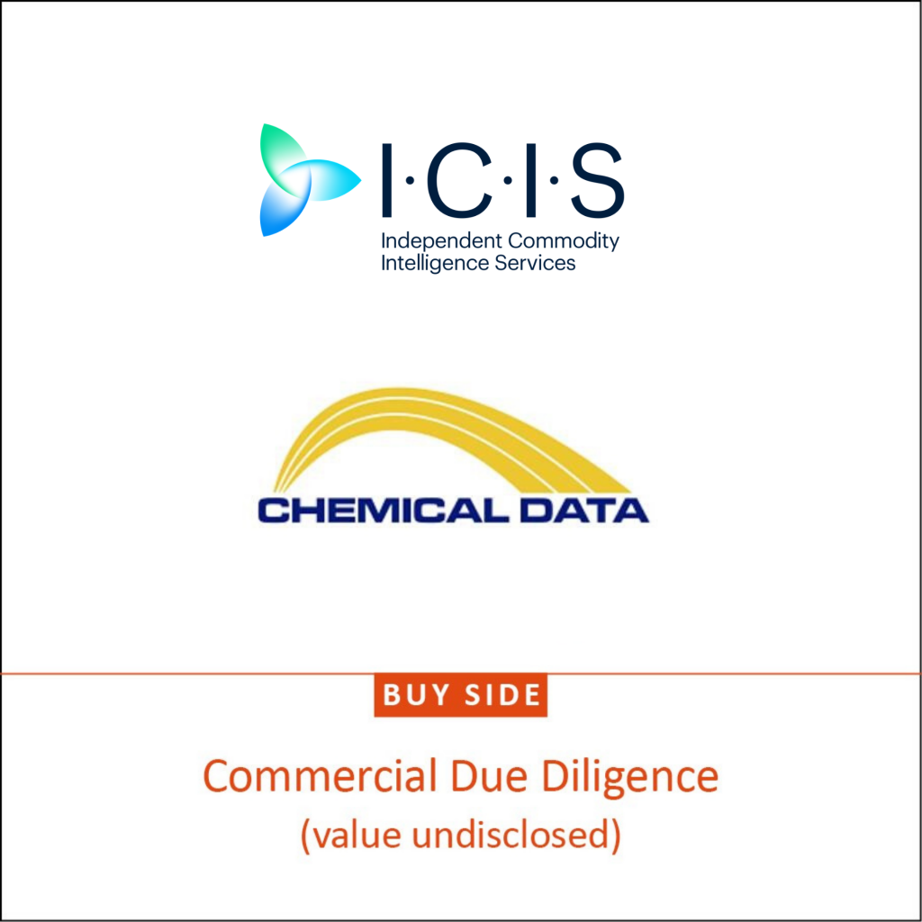 ICIS and Chemcial Data logos buyside commercial due diligence - value undisclosed
