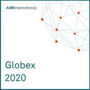 AMR Globex 2020 cover image with globe